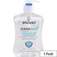 Enliven Hand Sanitizer Original Fragrance Cucumber & Garden Mint 500ml (Pack 1) Ref 502169