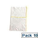 Dish Cloths Cotton Stockinette Dishcloths Yellow Pack 10