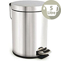 Pedal Waste Bin with Removable Inner Bucket 5 Litres Stainless Steel