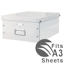 Leitz Click and Store Collapsible Archive Box Large For A3 White Ref 60450001