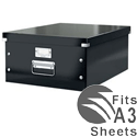 Leitz Click and Store Collapsible Archive Box Large For A3 Black Ref 60450095