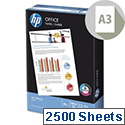 HP Hewlett Packard A3 80gsm White Office Paper Box of 2500 Sheets