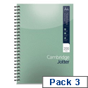 A4 Notebook Wirebound 80gsm Ruled 200pp Ref 400039062 Cambridge Jotter [Pack 3]