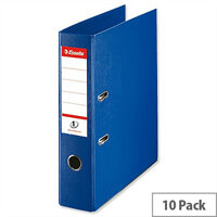 Esselte A4 Polypropylene 75mm Blue Lever Arch File Pack of 10