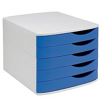 Grey & Blue Desktop Filing Drawers