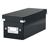 Leitz WOW Click and Store CD Box Black Ref 60410095