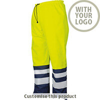 6504 Rain Pants Hv 110273 - Customise with your brand, logo or promo text