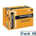 Duracell Industrial Batteries AA Pack 10