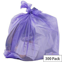 Robinson Young Le Cube Pedal Bin Liners 12L 1060x450mm Lilac [Pack 300]