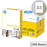 HP Everyday Paper A3 75g/m2 White Box of 2500 Sheets