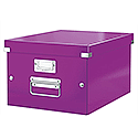 Leitz WOW Click and Store Box Medium A4 Purple Ref 60440062