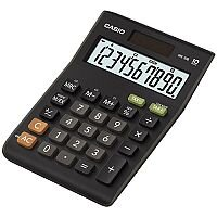 Casio Calculator Desktop Battery/Solar 10 Digit 3 Key Memory Tax Key 103x29x147mm Ref MS-10B