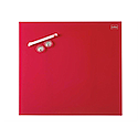 Nobo Diamond Drywipe Board Magnetic 300x300mm Red Ref 1903954