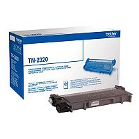 Brother TN-2320 Black High Capacity Toner Cartridge TN2320 - Prints 2,600 pages - High quality genuine Brother cartridge - Prevents waste to save you paper, time and money