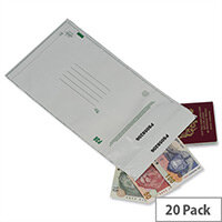 Ampac Tamper Evident C5+ White Opaque Protective Envelopes Pack of 20