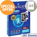 Navigator A4 Bright White Card 160gsm (Pack 250 of Sheets)