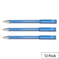 Paper Mate Flexgrip Ultra Blue Ballpoint Pen Fine Pack 12