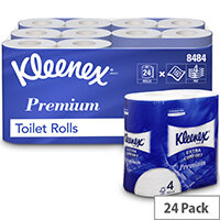 Kleenex Comfort Small Toilet Tisse Paper Roll 2-ply 4 Rolls of 160 Sheets Ref 8484 [Pack 24]