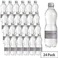 Harrogate Sparkling Bottles Water 500ml Pack of 24