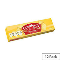 Crawfords Custard Cream Biscuits (Pack 12) Ref UTB001