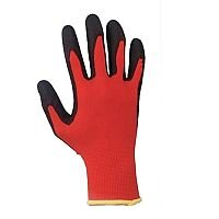 Keepsafe Safety Gloves PU Coated Red/Black Size 8 S/M-Men or L-Women Pack 1 Ref 303618080