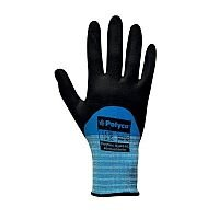 Juba Gloves Smart Tip Touchscreen Nitrile Foam Coated Size 8 S/M-Men or L-Women Pack 1 Blue/Black