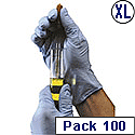 Gloves Disposable Powdered Nitrile Latex-free Tear-resistant Extra Large Blue [Pack 100]