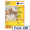 Avery 3483 Multi-Function Labels White 4 per Sheet 400 Labels