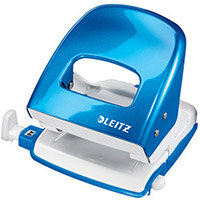 Leitz NeXXt WOW Metal Office Hole Punch 3mm 30 Sheet  Metallic Blue