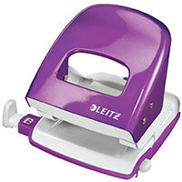 Leitz NeXXt Series WOW Metal Office Hole Punch 3mm 30 Sheet  Purple