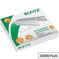 Leitz 25/10 Steel Staples  Pack of 1000  for Leitz Heavy Duty Flat Clinch 5552 Stapler