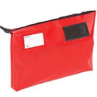 Red A3 Gusset Mail Pouch 470mm x 336mm x 76mm