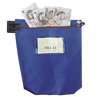 Blue Large Cash Bag