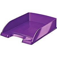 Leitz WOW Bright Letter Tray Stackable Glossy Purple