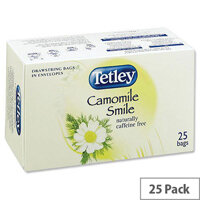 Tetley Tea Bags Camomile Smile Individually Wrapped Ref 1287B (Pack 25)