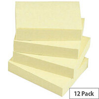 5 Star Value 1.5 x 2 inch Repositionable Notes Yellow Pack of 12