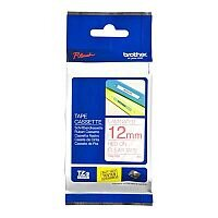 Brother P-touch TZe-132 12mm x 8m Red On Clear Laminated Labelling Tape