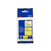 Brother P-touch TZe-S631 12mm x 8m Black On Yellow Strong Adhesive Laminated Labelling Tape