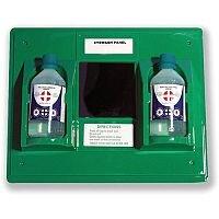 Wallace Cameron First-Aid Emergency Eyewash Station 2 x 500ml Bottles W206xD49xH205mm