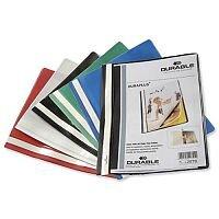 Durable Duraplus Quotation Folder PVC A4 Red Pack 25