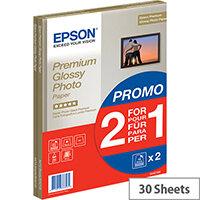 Bundle: Epson A4 Glossy Premium Photo Paper (2x15 Sheet Pack)