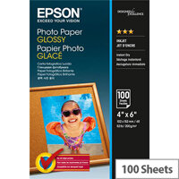 "Epson 6x4"" Glossy Photo Paper 200gsm (Pack of 100)"