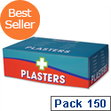 Wallace Cameron First-Aid Kit Blue Detectable Plasters 3 Assorted Sizes Pack of 150
