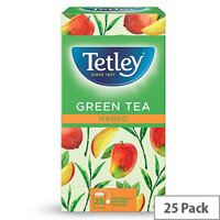 Tetley Green Tea with Mango Teabags (Pack of 25)
