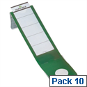 Lever Arch File Spine Labels Green PVC Pack 10 Durable Ordofix