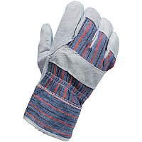 Heavy Duty Canvas Rigger Gloves Leather 1 Pair P06779