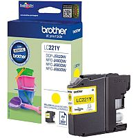 Brother LC221Y Yellow Inkjet Cartridge