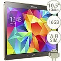 Samsung Galaxy Tab S SM-T805 (10.5 inch) Tablet Cortex Exynos 5 Octa-Core (5410) 1.9GHz+1.3GHz 3GB 16GB WiFi 3G 4G LTE BT Camera Android (Titanium Bronze)