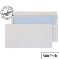 Purely Everyday White DL Wallet Self Seal Envelopes 100gsm Pack of 500