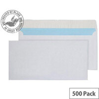 Purely Everyday White DL Wallet Peel and Seal Envelopes 110gsm Pack of 500